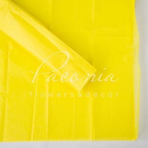 Папір Тішью 50см*66см тонкий лимонний Польша 1 лист