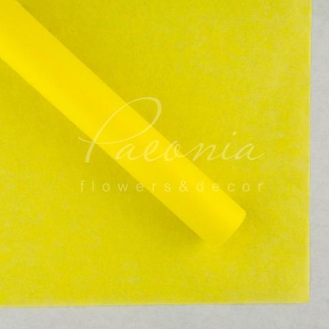 Бумага Тишью в листах 55см*60см желтый 1 лист
