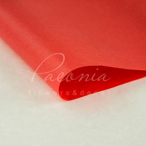 Папір Тішью в листах 55см*60см червоний 1 лист