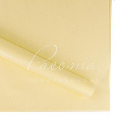 Папір Тішью в листах 55см*60см світло-жовтий 1 лист
