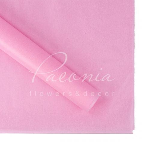 Папір Тішью в листах 55см*60см світло-рожевий 1 лист