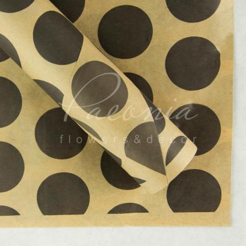 Папір пакувальний 50см*10м двосторонній Крафт щільний горох крупный