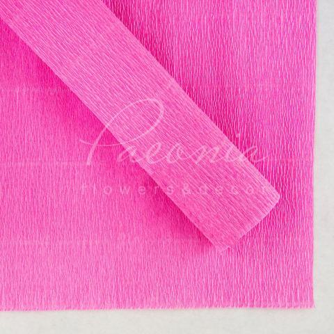 Папір пакувальний 50см*2,5м Креп рожевий