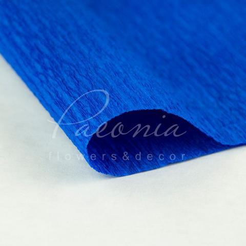Папір пакувальний 50см*2,5м Креп синій
