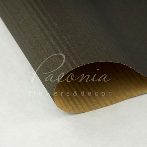 Папір пакувальний 60см*10м Гофре крафт графіт