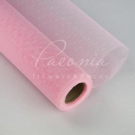 Сітка флористична в точку ніжно-рожева 50см * 9,1м