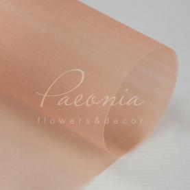 Сітка флористична гладка пудрова 50см * 9,1м