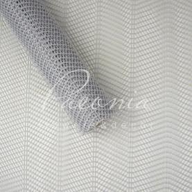 Сітка флористична стільники зигзаг світло сіра 50см * 4,6м