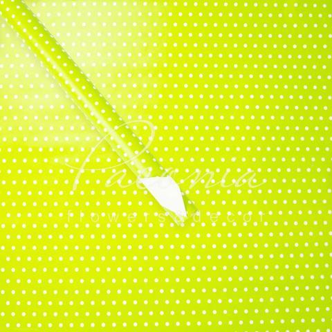 Бумага упаковочная 70 см*10 м зеленый горох