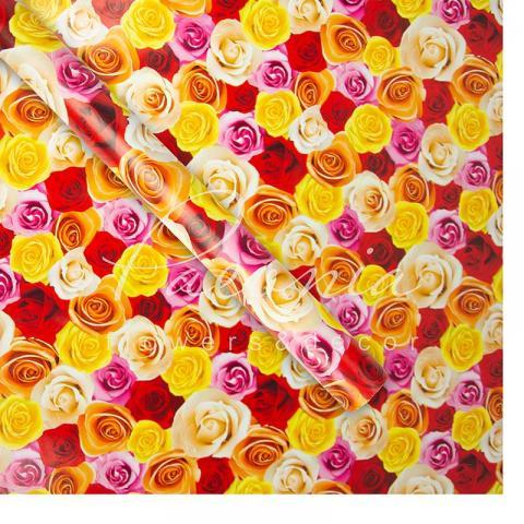 Папір пакувальний 70 см*10 м троянди