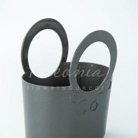 Сумочка LILY-MIX ITLI 200 з м'якого пластику сіра 20 * 11 * 14,1см