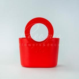 Сумочка LILY-MIX ITLI 240 з м'якого пластику 24*12,2*16,9см червоний