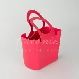 Сумочка LILY-MIX ITLI 300 з м'якого пластику яскраво-рожева 30 * 15,5 * 22,2см
