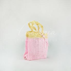 Сумочка Фуджі лляна рожева 13,5 * 8 * 13см