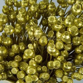 Сухоцвіт коробочки мака висота 50см золотий
