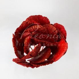 Сухоцвіт Мікс гребінець з блиском червоний H45см