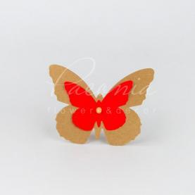 Топпер для букета метелик з картону червоний H12см