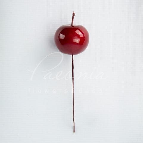 Топпер флористический из пластика H13см яблочко 1шт