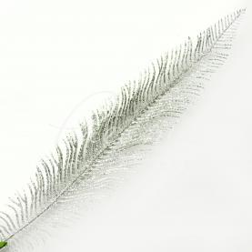 Топпер флористичний перо сріблястий H12см 7см
