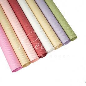 Папір для пакування квітів водостійкий гофре рулон мікс 70 см * 5 м