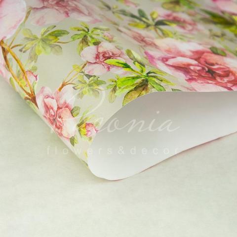 Папір пакувальний листовий 70см*100см азалія рожева