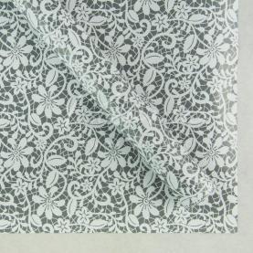 Бумага для упаковки подарков листовая белое кружево 70см*100см