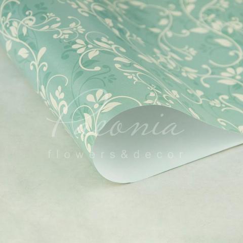 Папір пакувальний листовий 70см*100см блакитний узор