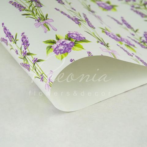 Папір пакувальний листовий 70см*100см Лаванда