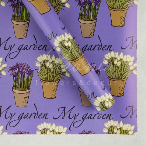 Папір пакувальний листовий 70см*100см Мой сад