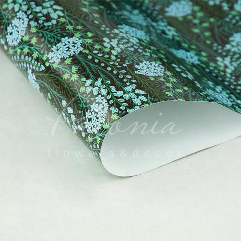 Папір пакувальний листовий 70см*100см Незабудки