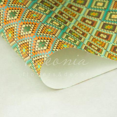 Бумага упаковочная листовая 70см*100см Орнамент
