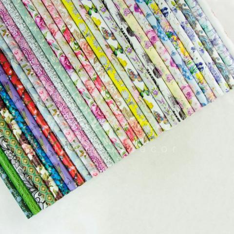 Бумага для упаковки подарков листовая павлины 70см*100см