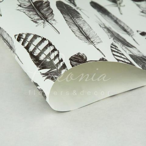 Папір пакувальний листовий 70см*100см Перо
