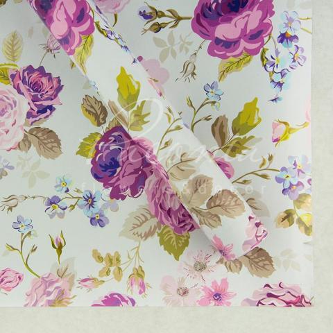 Папір пакувальний листовий 70см*100см троянди нежные