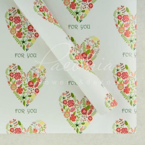 Папір пакувальний листовий 70см*100см серця