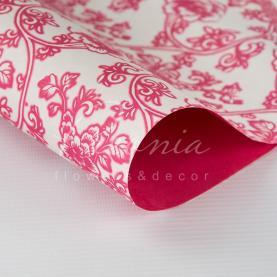 Папір для пакування квітів щільний листовий квітковий принт червоний 60 см * 60см