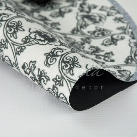 Бумага флористическая 60*60см плотность 100гр/м кв цветочный принт черный