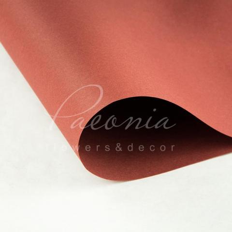 Папір Флористичний водостійкий листовий 54см*78см щільність 120г/м кв гладкий бордовий
