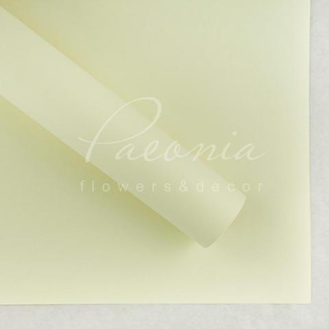Папір Флористичний водостійкий листовий 54см*78см щільність 120г/м кв гладкий ванільний