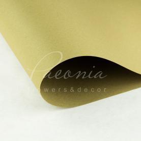 Бумага флористическая водостойкая листовая 54см*78см плотность 120г/м кв гладкая оливковый
