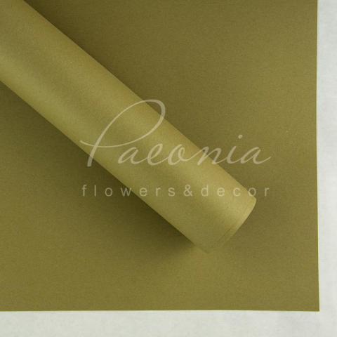 Папір Флористичний водостійкий листовий 54см*78см щільність 120г/м кв гладкий оливковий