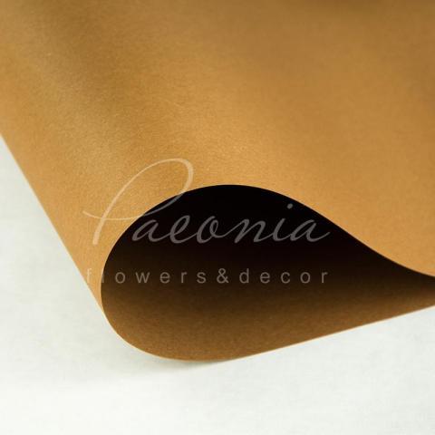Папір Флористичний водостійкий листовий 54см*78см щільність 120г/м кв гладкий світло-коричневий