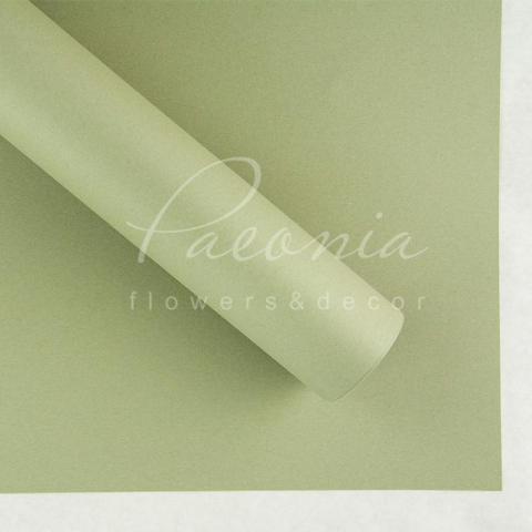 Папір Флористичний водостійкий листовий 54см*78см щільність 120г/м кв гладкий світло-оливковий