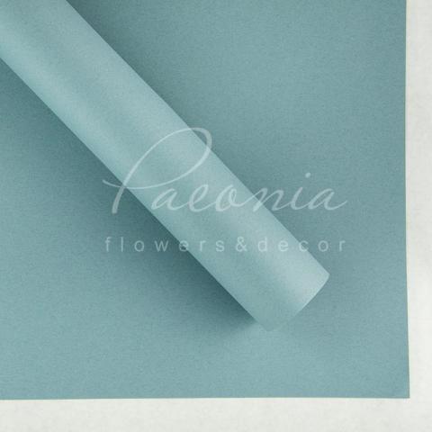 Папір Флористичний водостійкий листовий 54см*78см щільність 120г/м кв гладкий сіро-блакитний