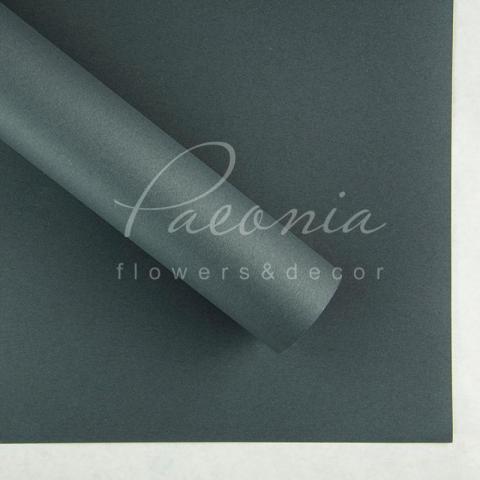 Папір Флористичний водостійкий листовий 54см*78см щільність 120г/м кв гладкий темно-сірий
