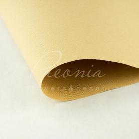 Папір для пакування квітів водостійкий щільний листовий мішковина гірчичний 54см * 78см