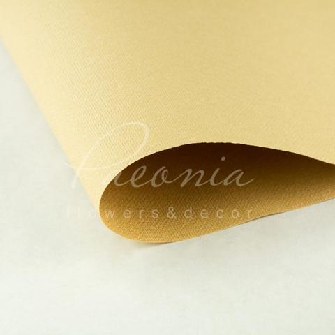 Папір Флористичний водостійкий листовий 54см*78см щільність 120г/м кв Мішковина гірчичний